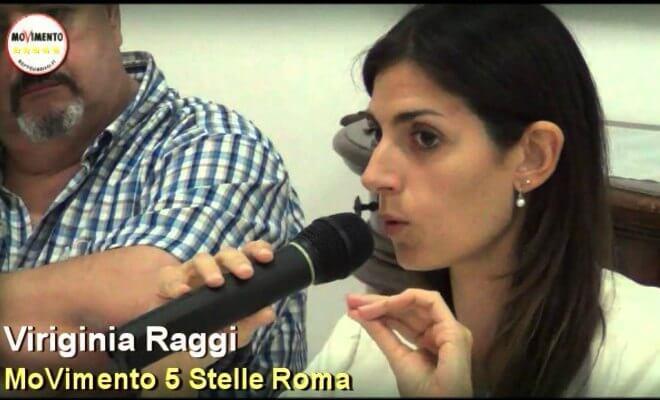 virginia-raggi-rome-beppe-grillo